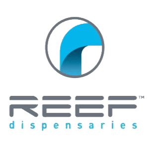 REEF dispensaries las vegas strip logo
