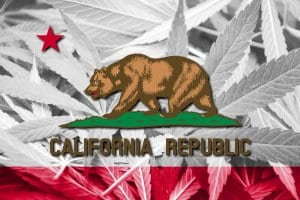 California Republic of Cannabis Flag