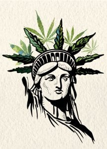 Statue of Liberty Marijuana Crown