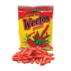 Flaming Hot Weetos Edibles Bag