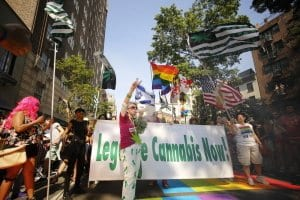 June 2016 NYC Pride Festival Marijuana Flags