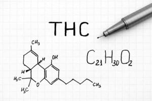 THC Molecule Drawn Pen