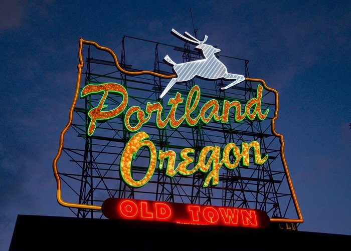 Portland marijuana events, Portland Oregon sign