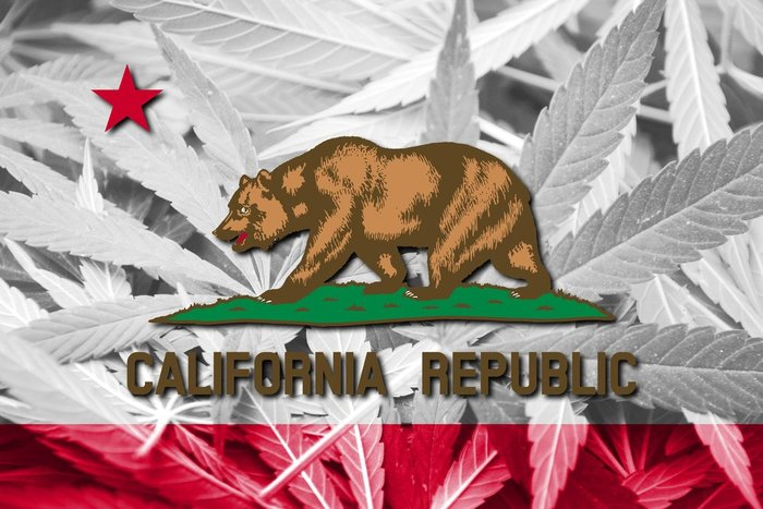 California State Flag Marijuana