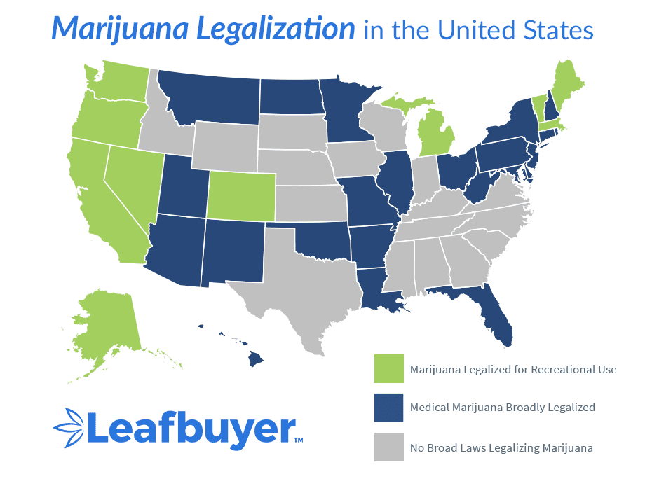 List of States That Have Legalized Marijuana | Leafbuyer