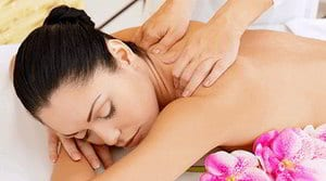 image of a woman getting a neck massage