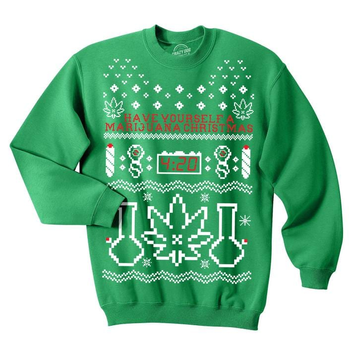 The Best Weed Christmas Sweaters and Hanukkah Sweaters | Leafbuyer