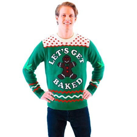 lets get gingerbaked christmas sweater