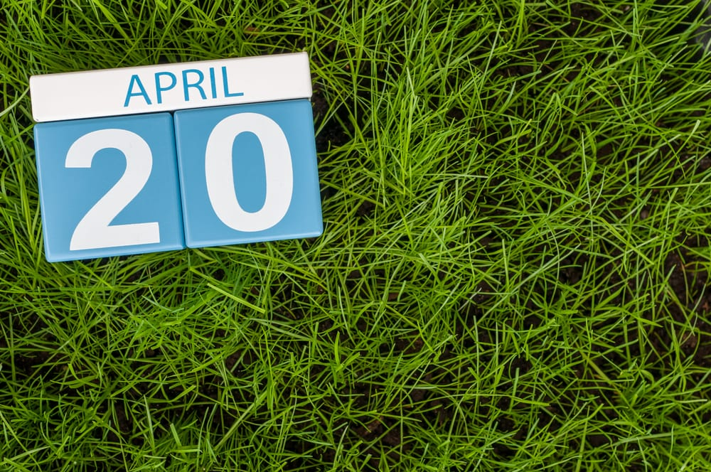 april 20th on a calendar with grass on the background showing what is 420