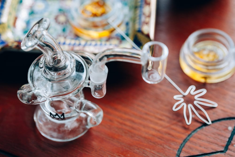 cannabis dab rig that can be used for BHO