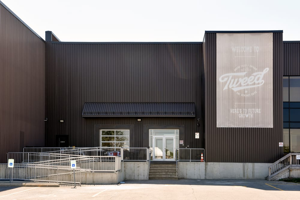 cannabis company canopy growth's tweed building exterior