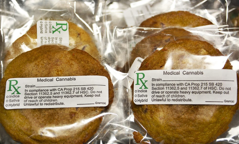 marijuana cookies in packaging