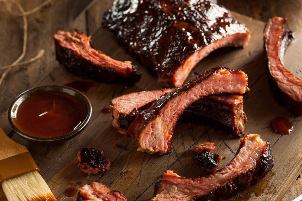 slab of barbecue ribs