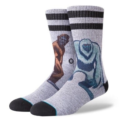 stoner socks with big foot and yeti