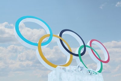editorial olympic rings sign