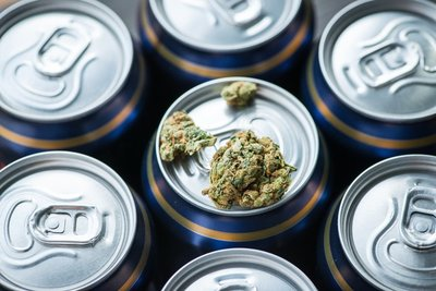 Cannabis on Beer Can