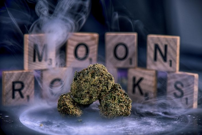moon rocks with letters