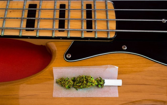 top smoking songs - joint and vintage guitar