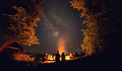 Cannabis Strains to Take Camping - fire and stars