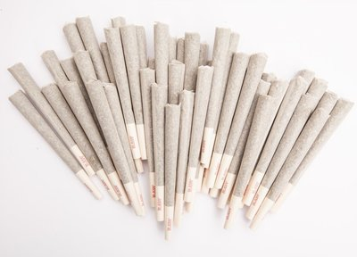 pile of pre-rolled joints