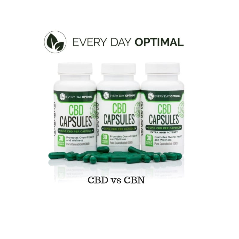 bottles of every day optimal cbd capsules