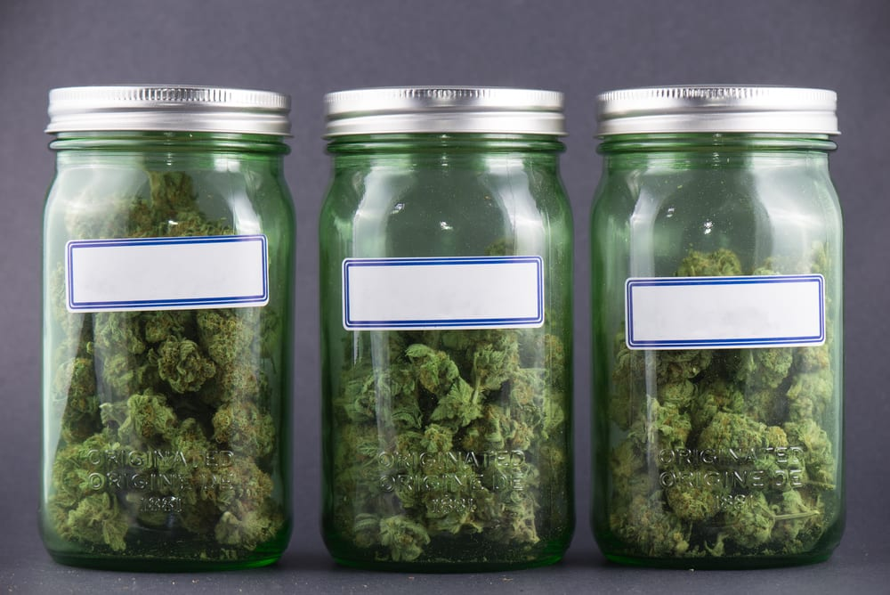 3 jars of cannabis