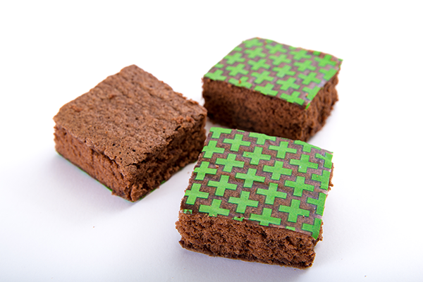 baked smart labeled brownies
