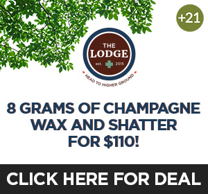 The Lodge- 8 Gm Wax Shatter $110 Top Deal