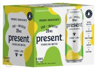 Lemon + Lime Present CBD Infused Sparkling Water 6 pack image