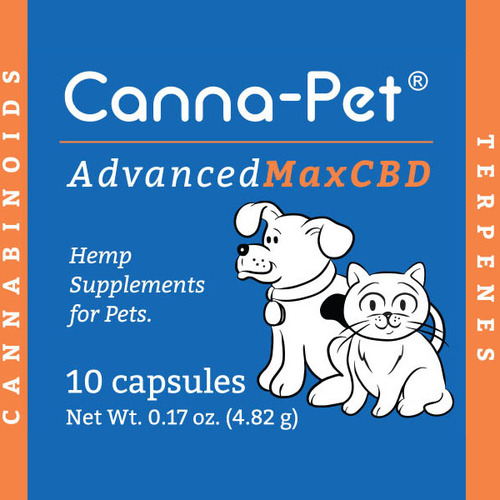 Package: Canna-Pet® Advanced MaxHemp- 10 count capsules  image