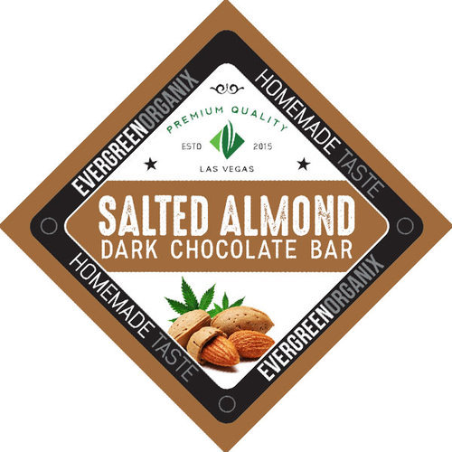 Salted Almond Dark Chocolate Bar image