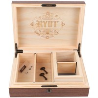 RYOT Humidor Combo Box in Walnut - 8x11 with 4x7 Screen Box product image