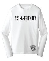 420 Happy Rebel Jersey White Long Sleeve Tee product image