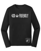 420 Happy Rebel Jersey  Black Long Sleeve Tee product image