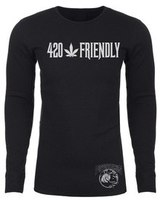 420 Friendly Puffpotamus Logo Black Long Sleeve Thermal  product image
