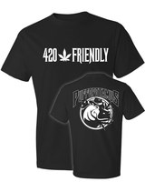 420 Friendly Brian ​with Puffopotamus Logo Black T-Sh product image