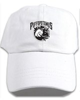 Puffopotamus Logo White Embroidered Dad Hat product image