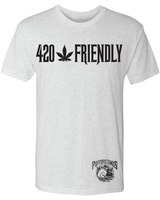 Puff's 24chillin 420 Heather white T-Shirt product image