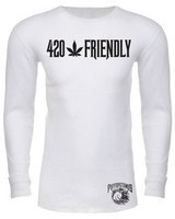 420 Friendly Puffopotamus Logo White Long Sleeve Thermal  product image