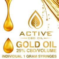 Active CBD oil - Gold 25% image